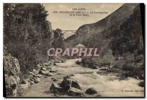 Old Postcard Briancon The Cerveyrette and Pont Baldy