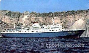 MS. Stella Oceanis, Sun Line Steamer Ship Unused light corner wear, Unused
