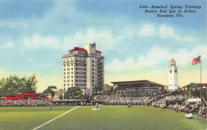 LPA49 Sarasota Florida Baseball Spring Training Boston Red Socks Postcard