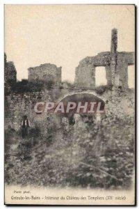 Old Postcard Gre'oulx Interior Les Bains Du Chateau Des Templiers