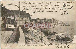 Postcard Old MARSEILLE - A Corner of the Corniche Tramway