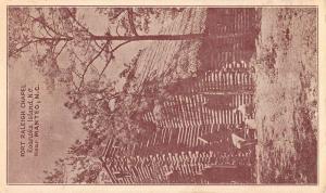 Roanoke Island North Carolina Fort Raleigh Chapel Antique Postcard K81641