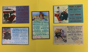Lot of 5 Postcards, Bullfights in Acapulco, Mexico, Superior Beer, 1967-1983