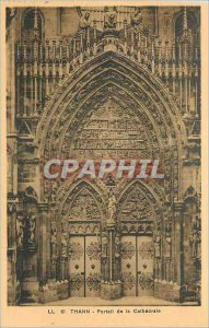 Old Postcard Thann the Cathedral Portal