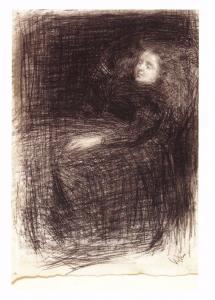 Postcard Art THE SLEEPER (c1863) by James McNeill Whistler MU2010 #38