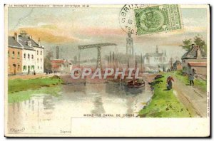 Old Postcard Mons Canal De Conde