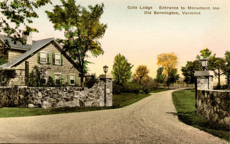 VT - Bennington. Monument Inn Gate Lodge