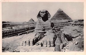 Excavated Sphinx Cairo Egypt, Egypte, Africa Unused