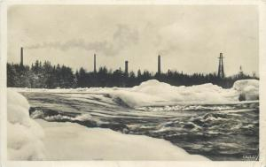 Finland industry Oulu 1931 photo postcard