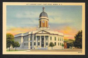 Street View Cherokee County Court House Murphy North Carolina Unused c1930s