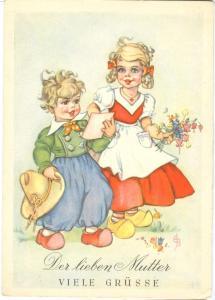 Der lieben Mutter, Viele Grusse, unused Postcard