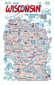 Maps Wisconsin USA 1966