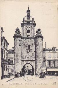 La Rochelle, Porte de la Grosse Horloge, Charente Maritime, France, PU-1923