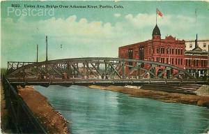 CO, Pueblo, Colorado, Arkansas River Bridge, Union Avenue, No. 5022