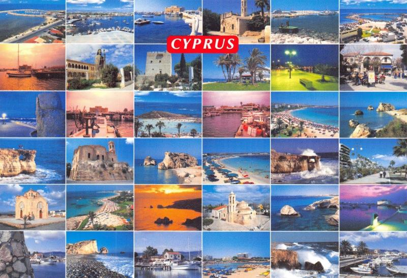 Cyprus Postcard, Multi View by Zevlaris Hartika No.150 T94