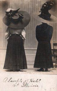 Two Women in Big Hats BIN