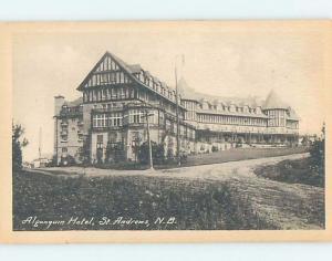 Unused Divided-Back HOTEL SCENE St. Andrews New Brunswick NB B1835