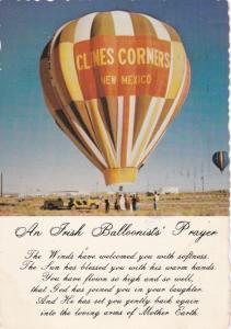 CLINES CORNERS , New Mexico, 1982: An Irish Balloonists' Prayer, Hot Air Balloon