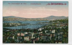 Panorama of Port Istanbul Turkey 1910c postcard