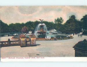 Pre-1907 BETHSEDA FOUNTAIN New York City NY hp9742