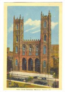 Notre Dame Cathedral, Montreal, Quebec, Canada, PU-1944