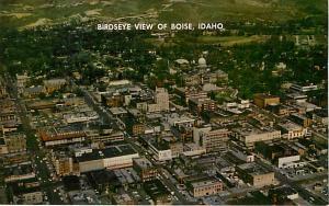 Air View Downtown Boise Idaho ID Pre-zip Code Chrome
