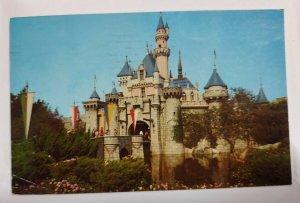 Disneyland Postcard Cinderella Castle 1963 Simi CA Otto Kosek Cedar Rapids Iowa