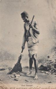 Road Sweeper India Old Postcard