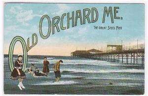 Old Orchard Maine Pier Large Letter 1910c postcard