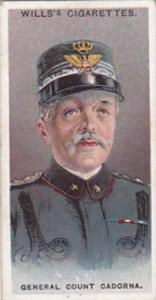 Wills Cigarette Card Allied Army Leaders No 32 General Count Cadorna