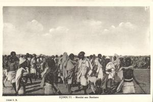 CPA Djibouti Afrique - Marché aux Bestiaux (87063)