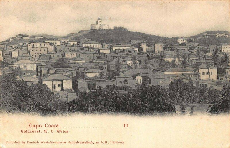 Ghana Gold Coast Cape Coast panorama postcard