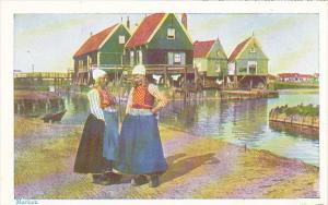 Netherlands Marken Girls In Traditional Costume