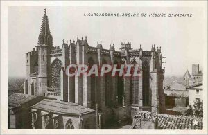 Postcard Modern Carcassonne Apse of the Church of St. Nazaire