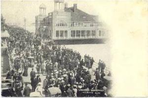 Crowded Boardwalk, Atlantic City, New Jersey, 1900-1910s