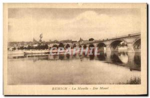 Old Postcard Remich Moselle Die Mosel