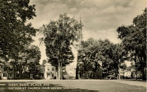 VT - Fair Haven. West Park Place and Methodist Church