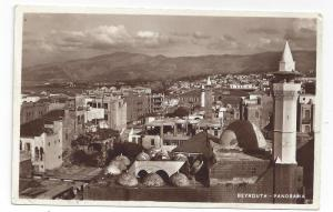 RPPC Beyrouth Beirut Lebanon Syria 1936 Real Photo Postcard
