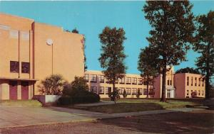McComb Mississippi~Gibson High School~Close View of Building~1950s Postcard