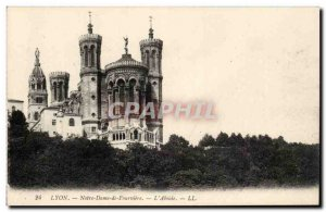 Lyon - Our Lady of Fourviere - L & # 39Abside - Old Postcard
