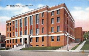 Burlington Iowa~Art Deco Des Moines County Courthouse 1944 Linen