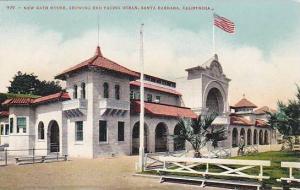 New Bath House, Showing End Facing Ocean, Santa Barbara, California, 1900-1910s