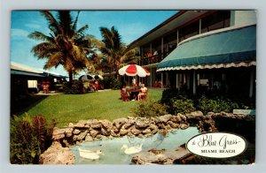Miami Beach FL- Florida, Blue Grass, Apartments, Chrome c1959 Postcard