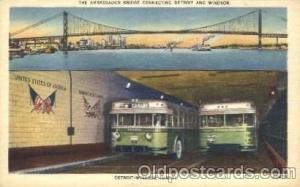 Windsor and Detroit Bus, Buses Postcard Post Card  Windsor & Detroit
