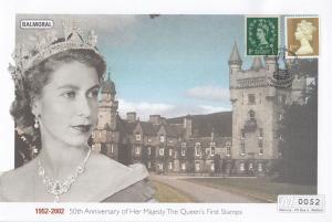 Balmoral Queen Elizabeth II Golden Jubilee Rare Stamp 50th Anniversary FDC