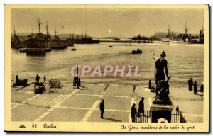 Old Postcard Toulon Genie Maritime and Port Output