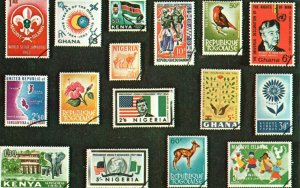 Vintage Postcard 1910's Diff. Stamps Greetings From My Favorite Stamp Show