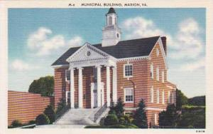 Exterior, Municipal Building, Marion,  Virginia, 30-40s
