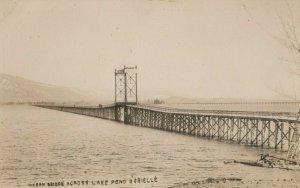 RP: Lake Pend Oreille , Idaho , 1900-10s ; Wagon Bridge