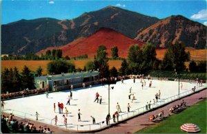 Olympic Misura Ghiaccio Pattinaggio Rink Sun Valley Id Unp Union Pacific Cromo